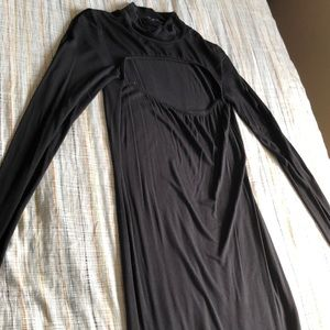 Long Sleeve black bodycon from NastyGal